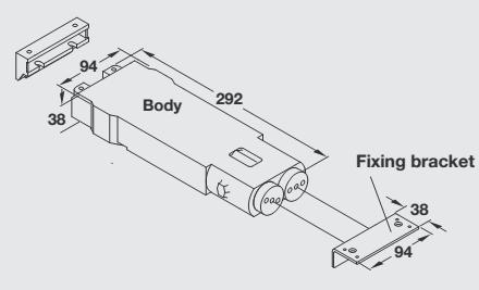 G-95079 GEZE Door Closer without spring action dummy closer